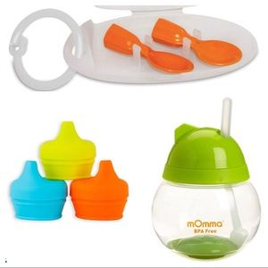 Infantino Pouch Spoons Lansinoh cup Boon spouts